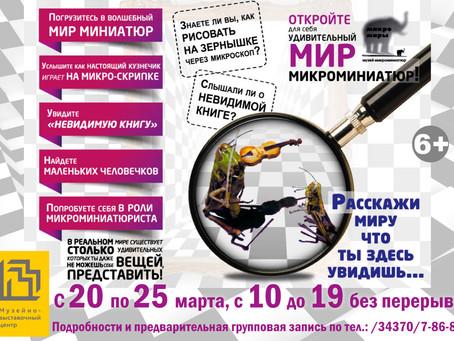 """Международная выставка-квест """"Микромиры"""""""