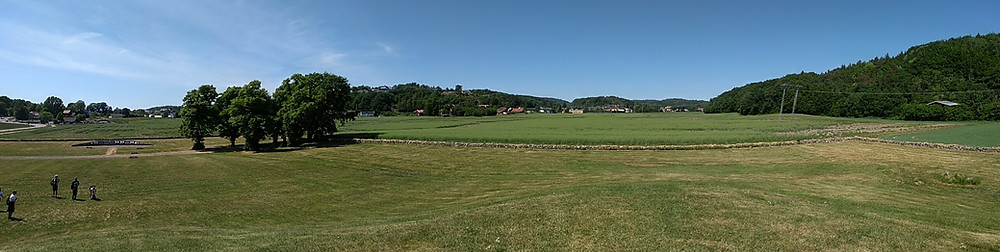 Panorama view from the top of the Gokstad Mound