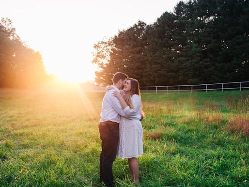 Rustic Sunset Engagement | Catherine + Kyle | Annapolis Wedding Photographer
