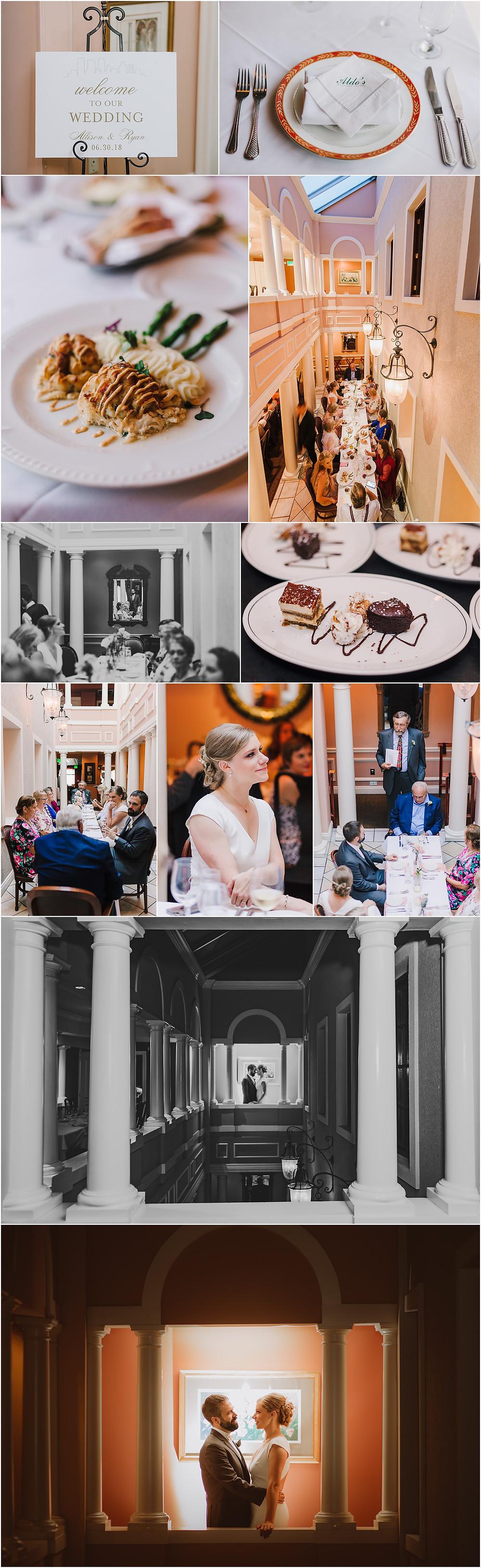 Intimate Wedding Reception at Aldo's Little Italy Restaurant - Baltimore Wedding Photography