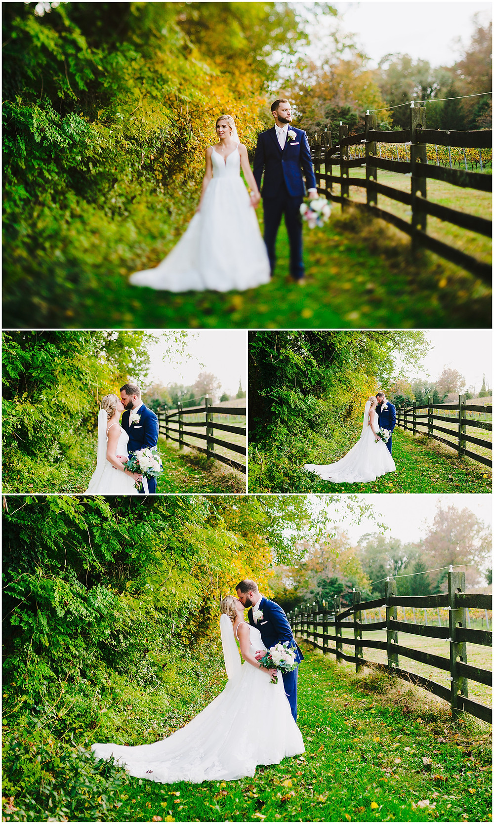 Sunset wedding portraits at Bohemia Overlook, Baltimore Wedding Photographer