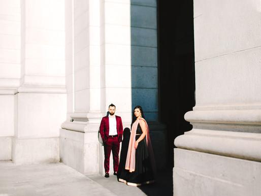 Union Station Engagement Portraits | Priya + Tony | Maryland Wedding Photographer
