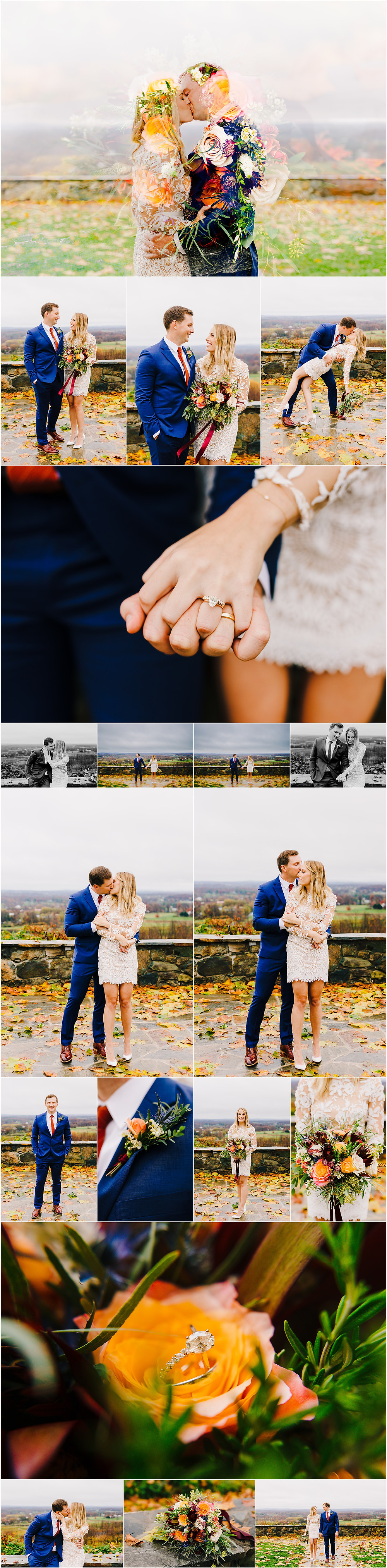 Frederick Maryland Elopement Photographer Colorful Bluemont Vinyard Elopement