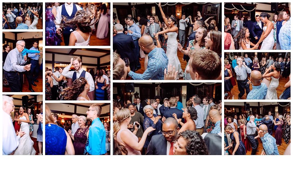 Dancing the night away collage by Katherine Elizabeth Photography, Maryland Wedding Photographer