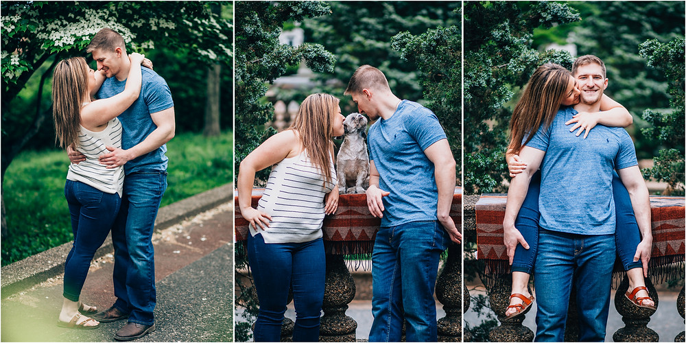 Meridian Hill Engagement with Puppy - D.C Wedding Photography