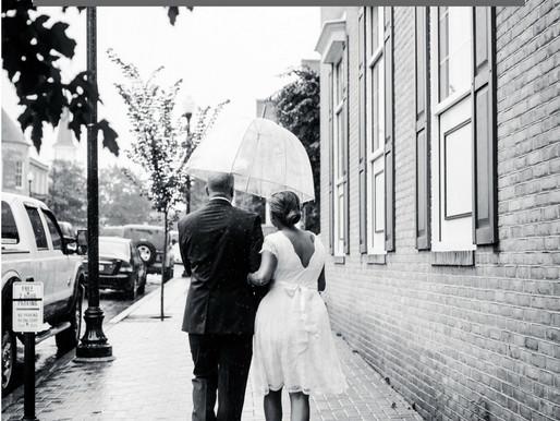 6 Tips for Thriving on a Rainy Wedding Day | Maryland Wedding Photographer