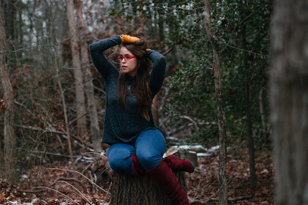 Maryland Photographer Self Portrait - Forest in Winter