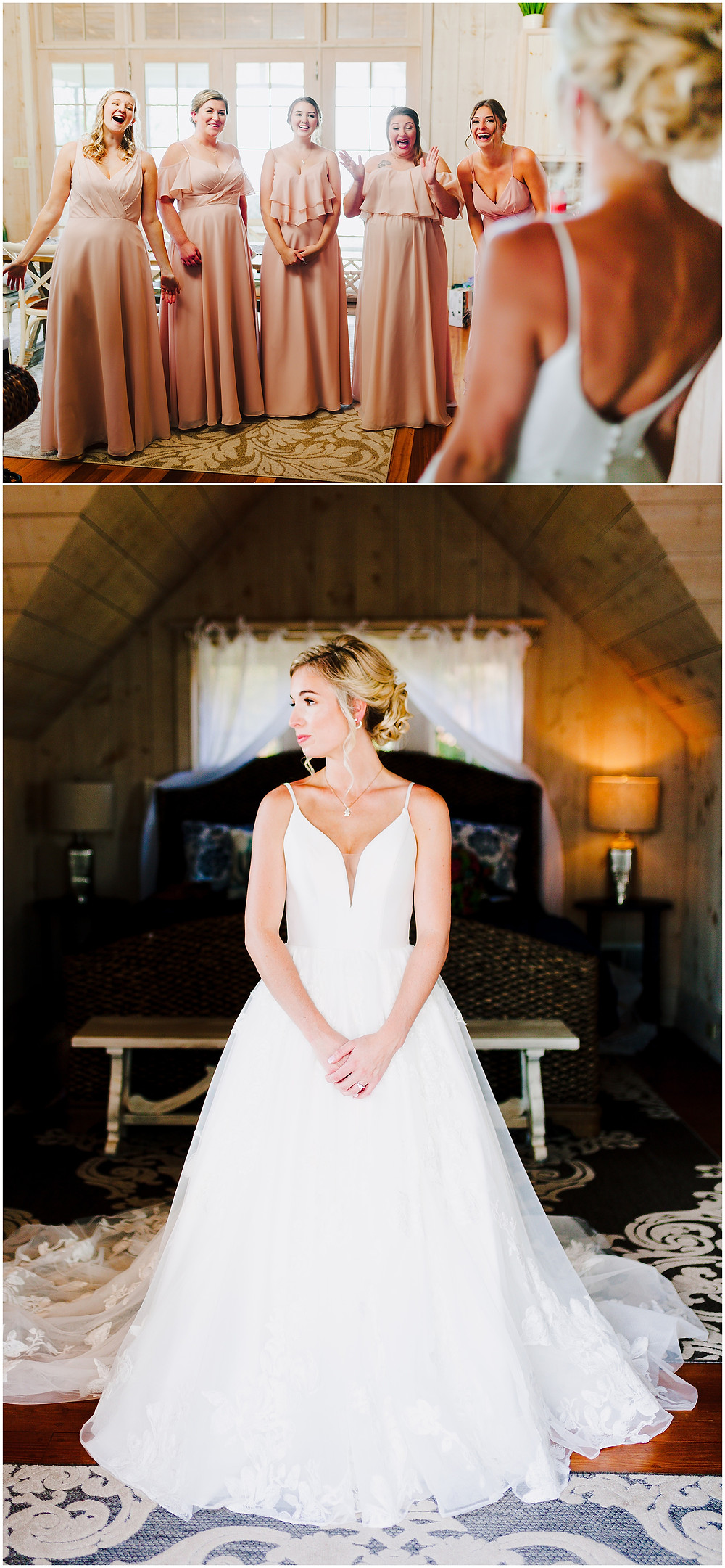 Bridesmaids First Look Maryland Wedding Photographer