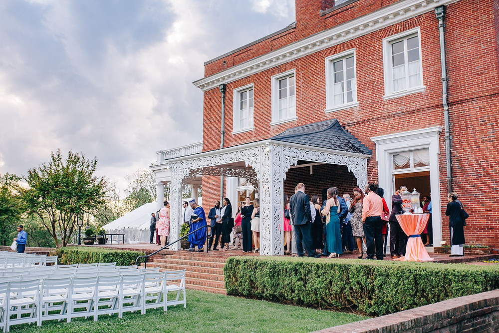 Guests before the ceremony - Oxon Hill Manor Wedding