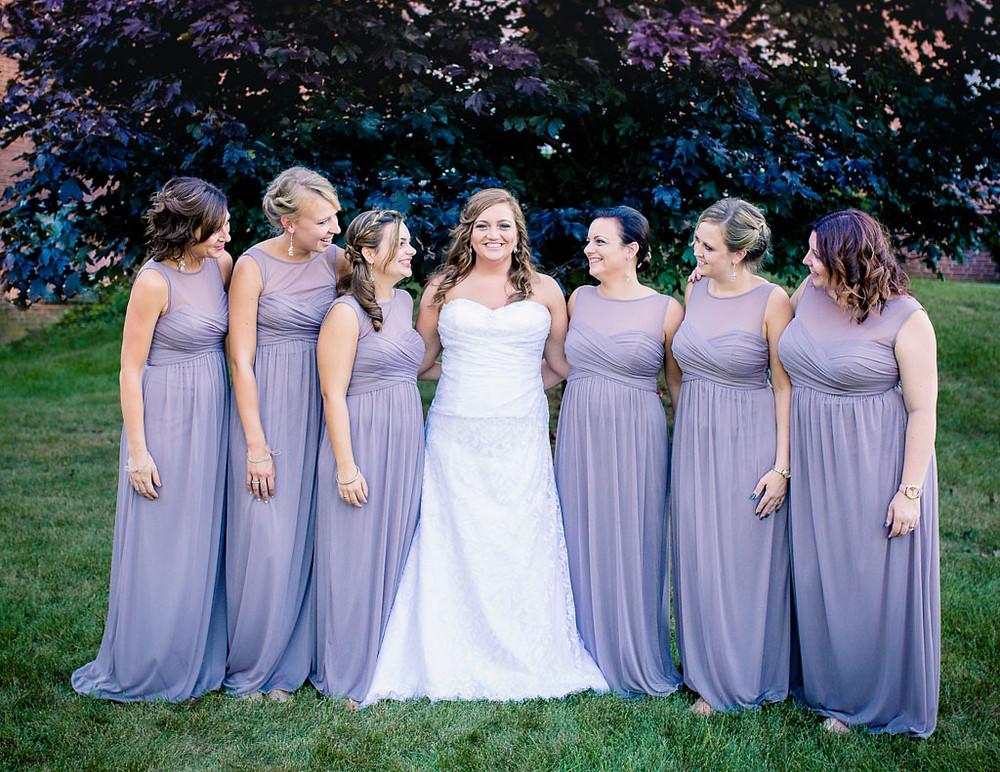 Bride tribe - bridesmaids - Overhills Mansion Wedding