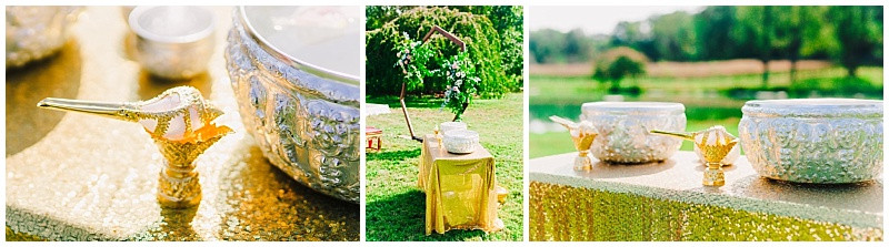 Thai Traditional Watering Ceremony details. Maryland Wedding Photographer