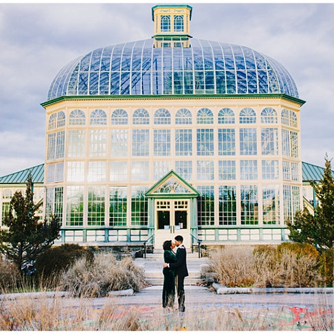 Rawlings Conservatory Engagement | JaQuelia + Shane | Baltimore Wedding Photographer