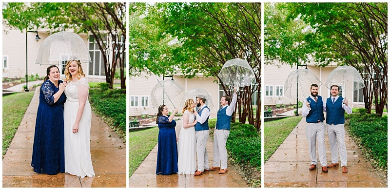 Wedding Day Rain Portraits
