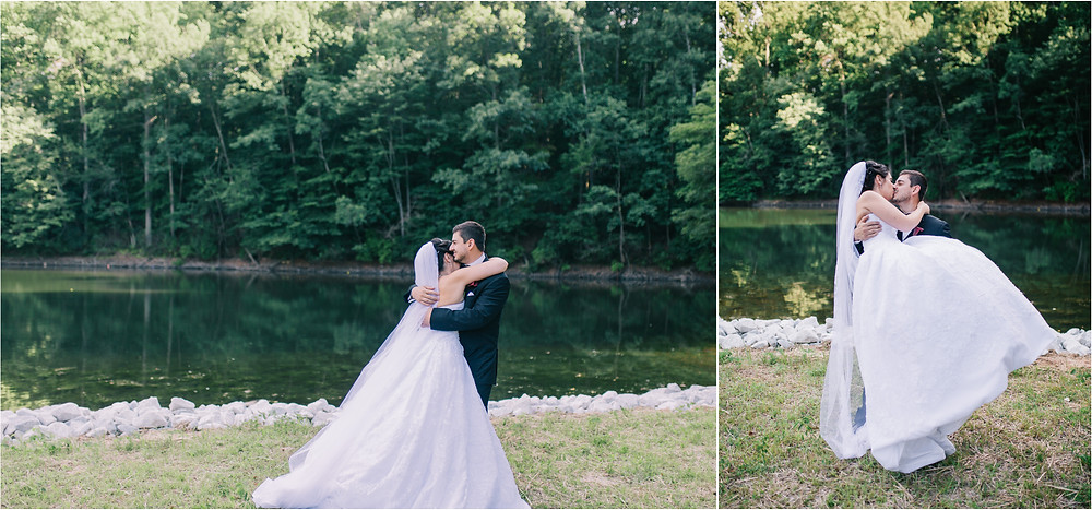 oregon ridge bridal portraits by the lake