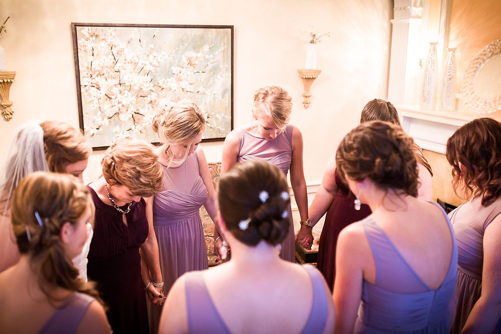 Prayer Overhills Mansion Baltimore Wedding