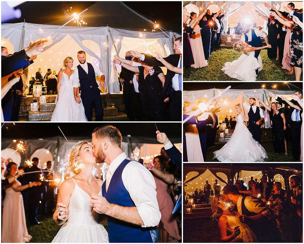 Sparkler Exit at Bohemia's Overlook Wedding Baltimore Wedding Photographer
