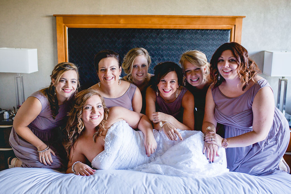 Casual Photos with your bridesmaids Maryland Bride
