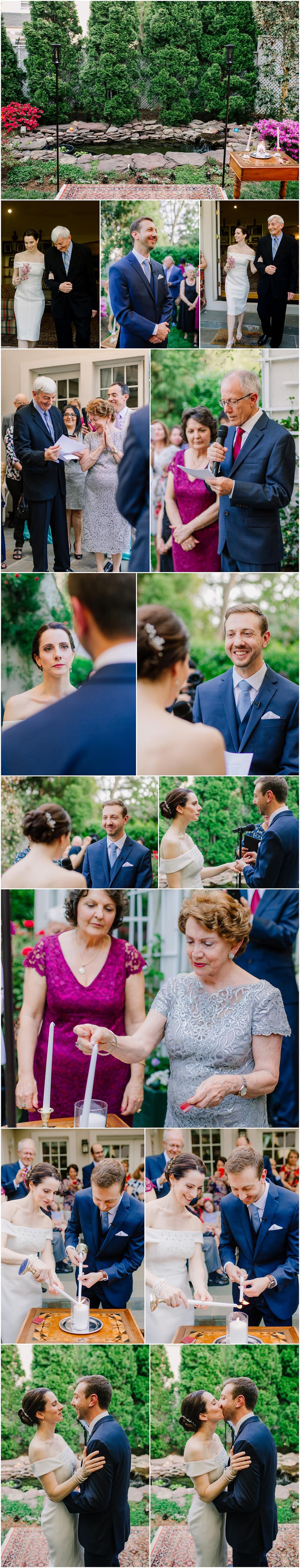 Intimate Chevy Chase Maryland Backyard Wedding Ceremony