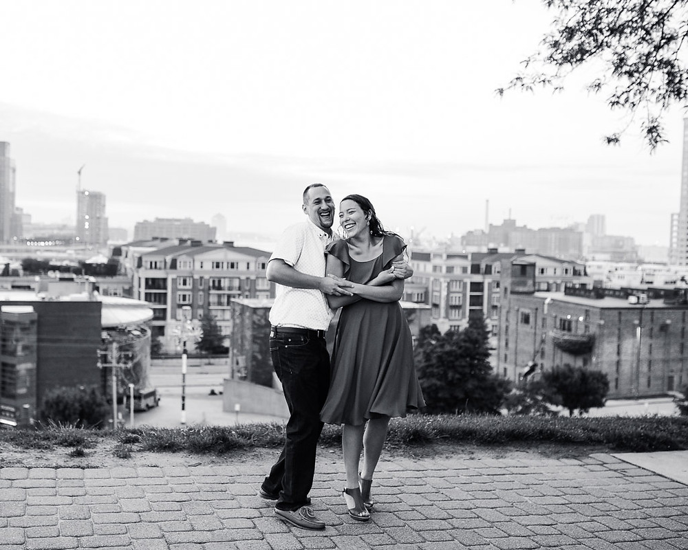 Dancing on Federal Hill - Sunrise engagement portraits - Baltimore Maryland Wedding Photography