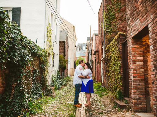 Raven + Jamin | Old Town Alexandria Engagement | DC Wedding Photography