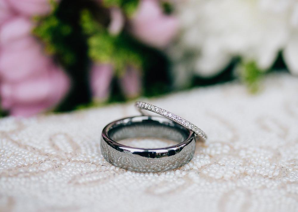 Wedding Rings - Rainy Day Charles Town Courthouse Wedding - Maryland Wedding Photographer - Katherine Elizabeth Photography