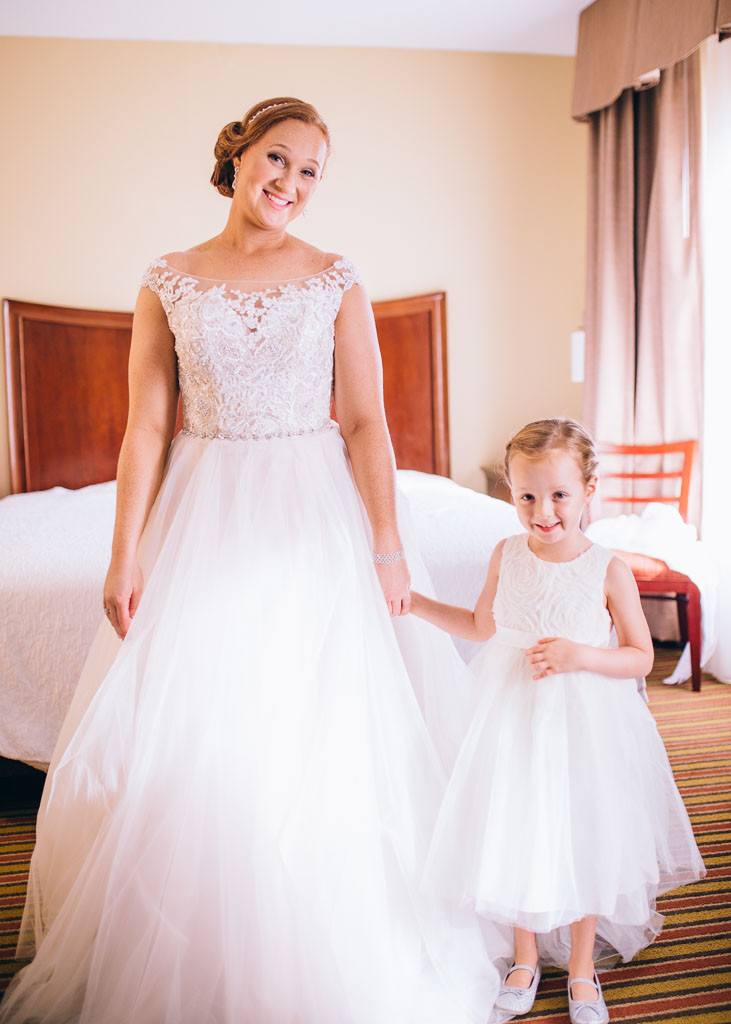 Bride and Flower Girl Maggie Sottero Gown