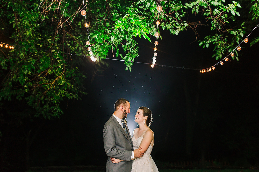 Romantic Night Portrait at Overhills Mansion in Catonsville, Maryland.