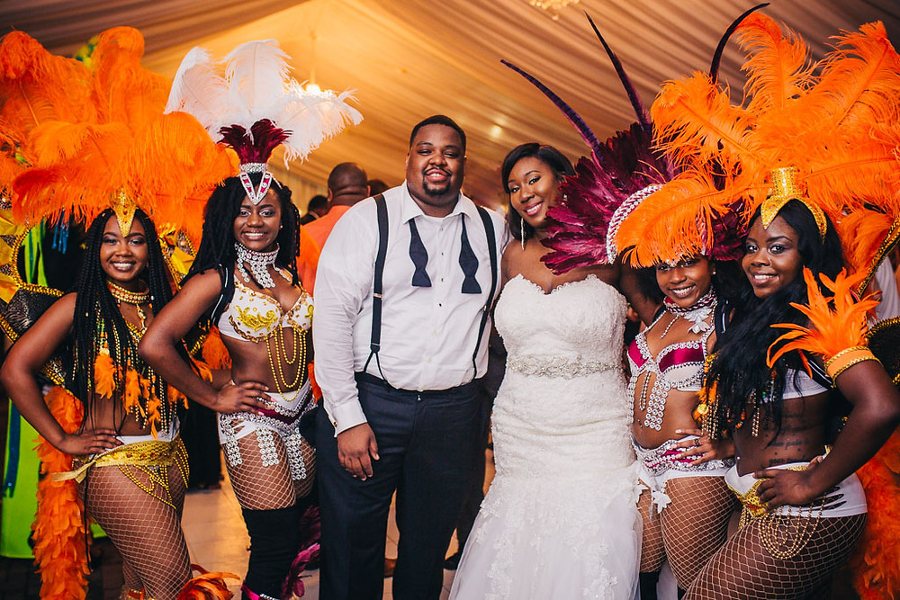 Baltimore Wedding Photography - Reception - Jamaican American Wedding Surprise Carnival Dancers