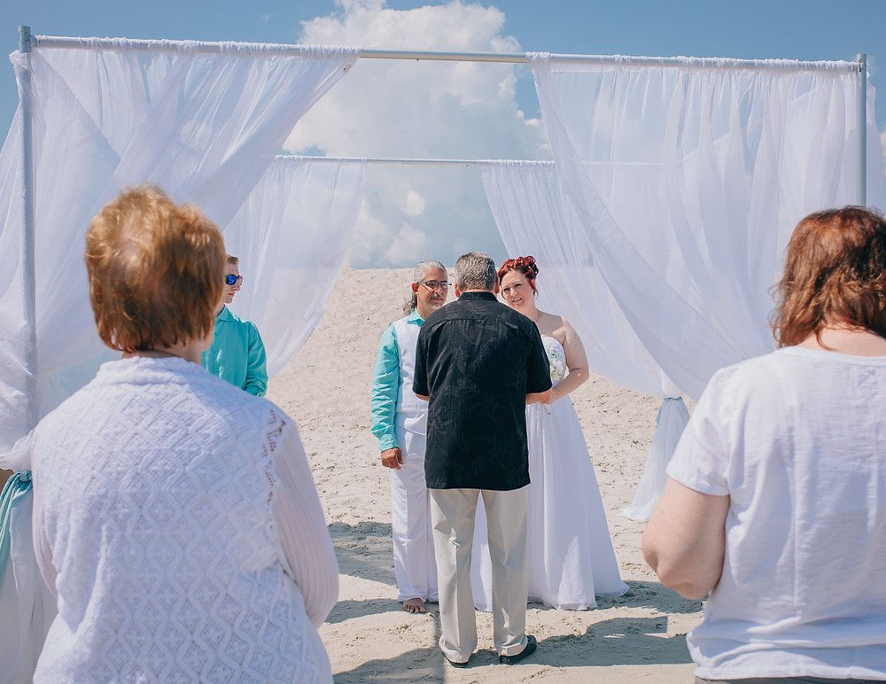 Beach Ceremony- Maryland Wedding Photographer - Katherine Elizabeth Photography