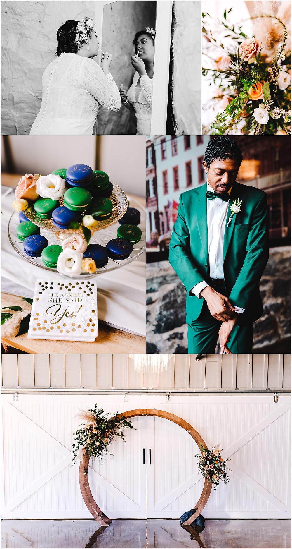 Main Street Ballroom Elopement Baltimore Wedding Photographer