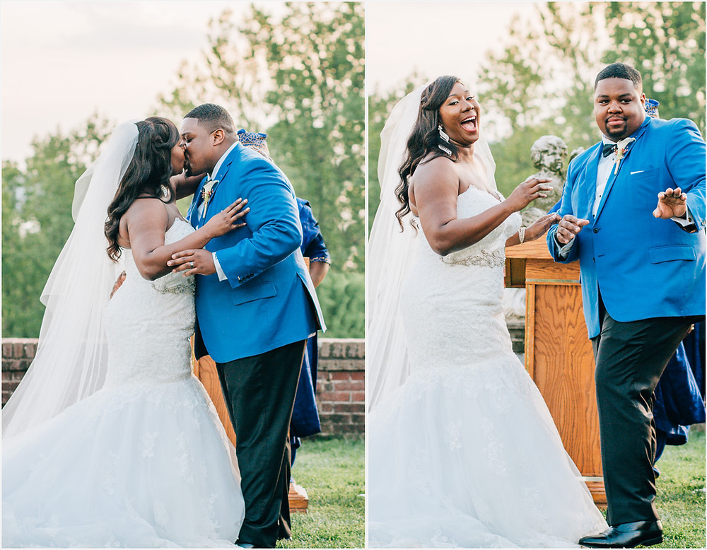 Oxon Hill Manor First Kiss - Maryland Wedding Photography