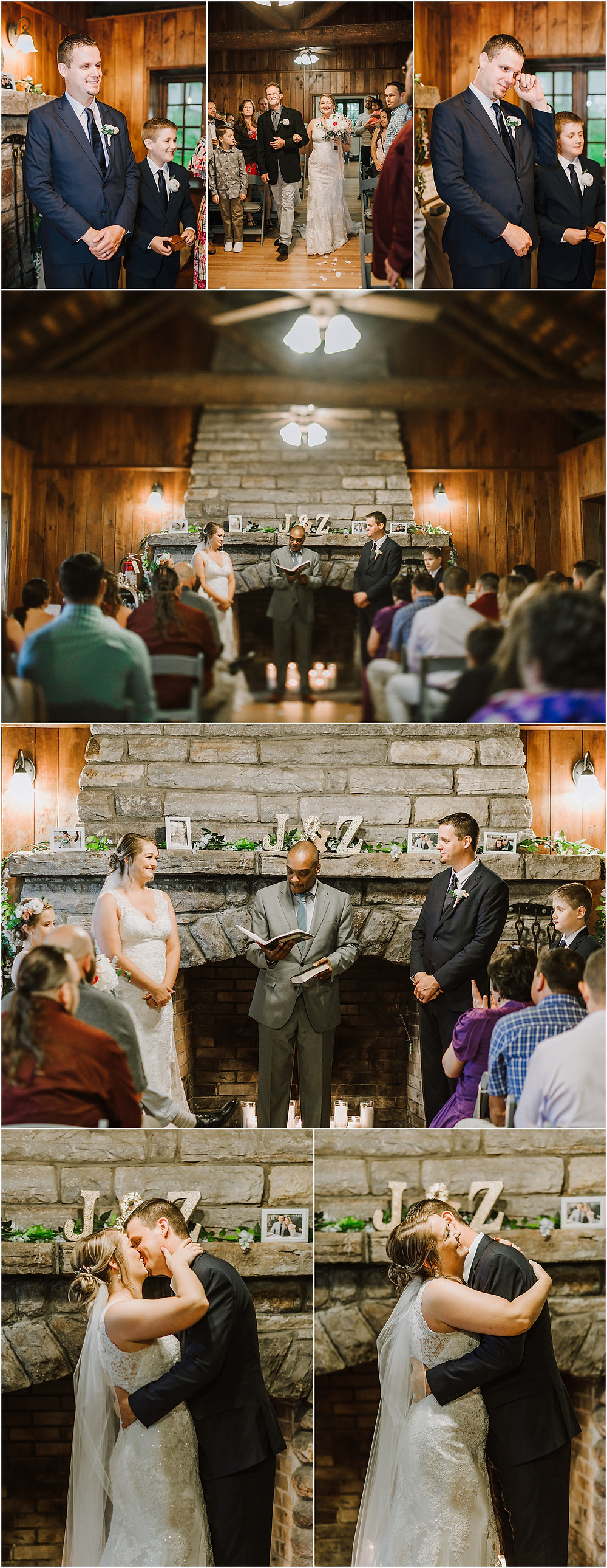 Ceremony at the Tea Room at Gambrill State Park - Frederick Maryland Wedding Photographer