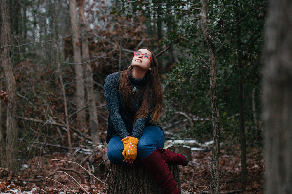 Maryland Photographer Self Portrait - Anne Arundel Forest in Winter
