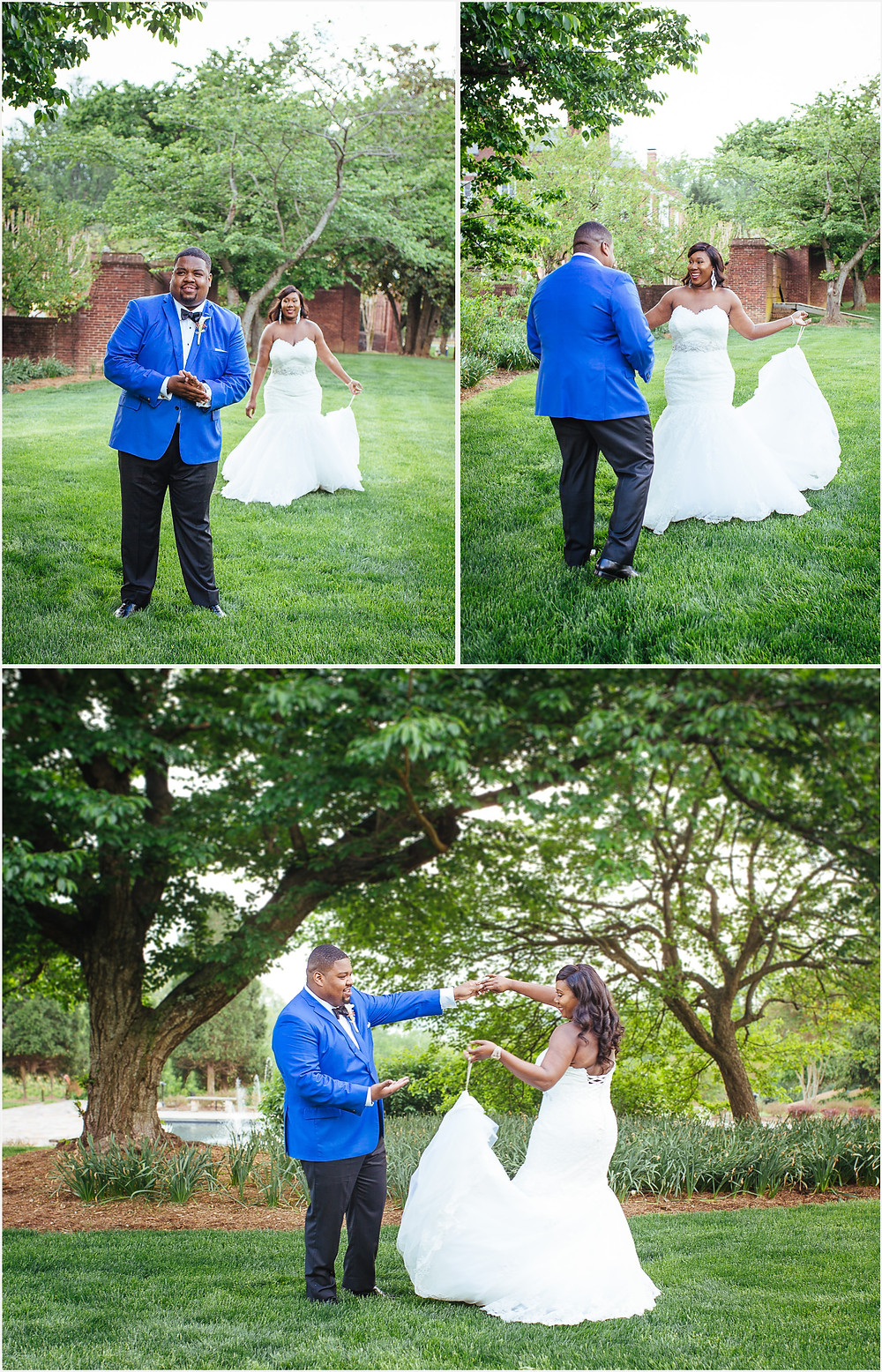 Oxon Hill Manor first look - Maryland Wedding Photography