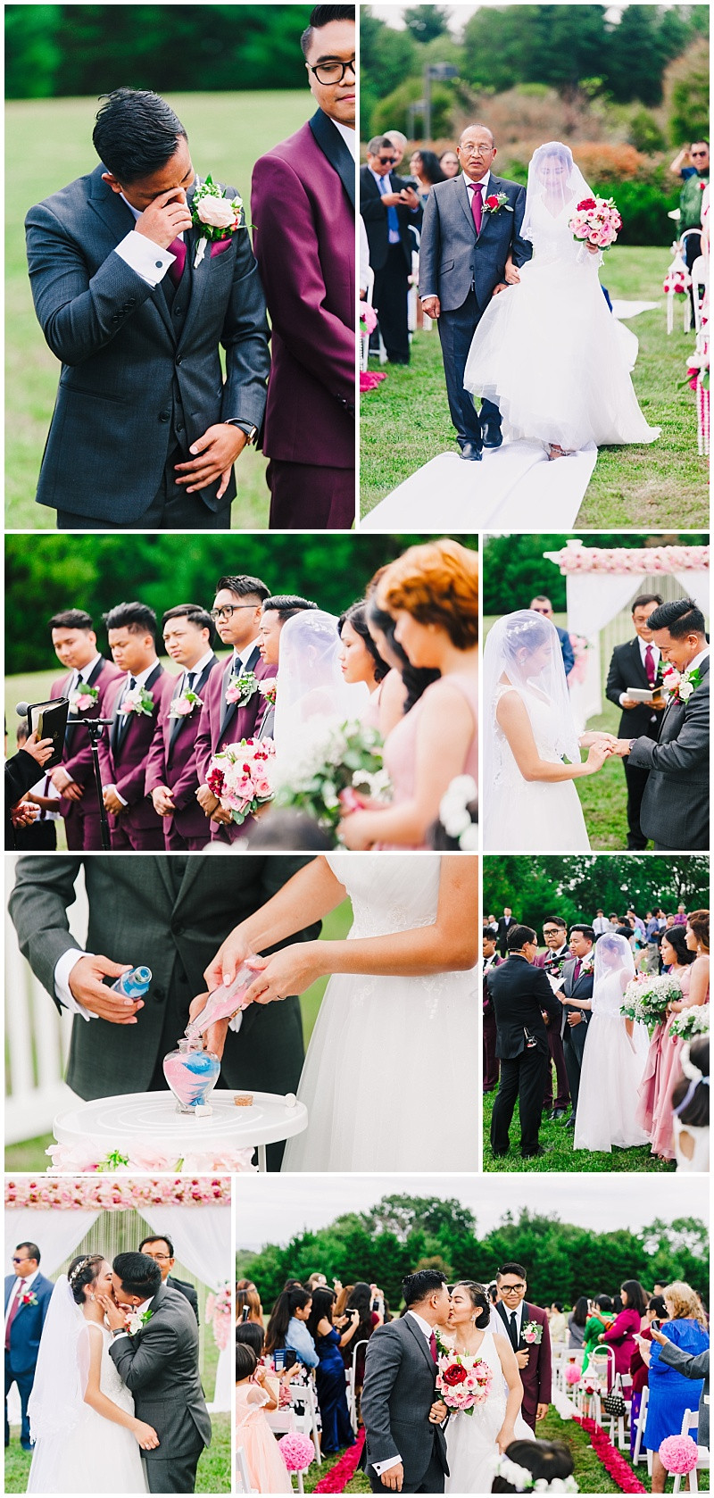 Frederick Maryland Wedding Outdoor Ceremony