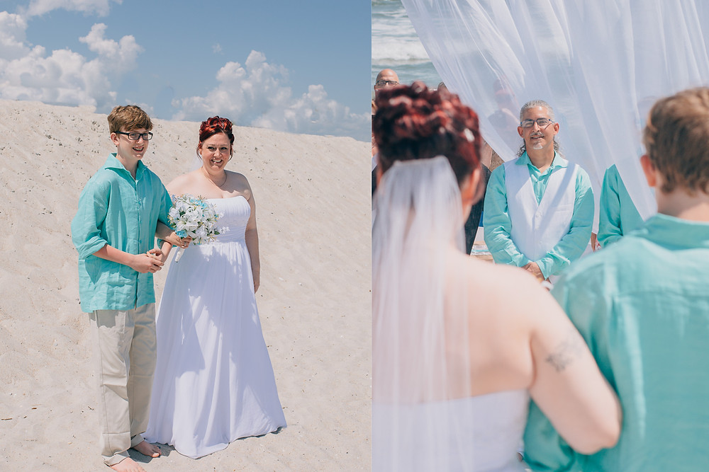 Beach first look- Maryland Wedding Photographer - Katherine Elizabeth Photography