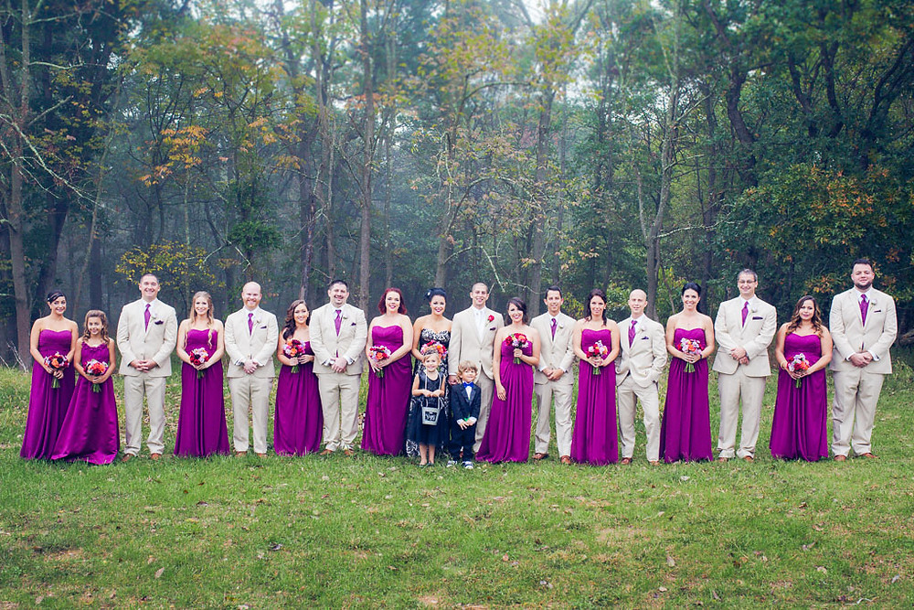Wedding Party Purple Gowns Baltimore Wedding Day