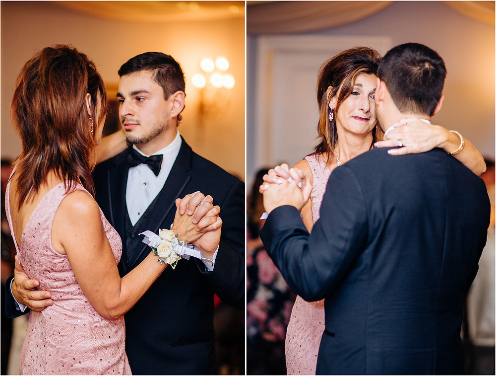 Mother son dance at the mansion at valley country club