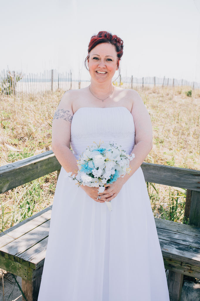 Bride on the beach - Maryland Wedding Photographer - Katherine Elizabeth Photography