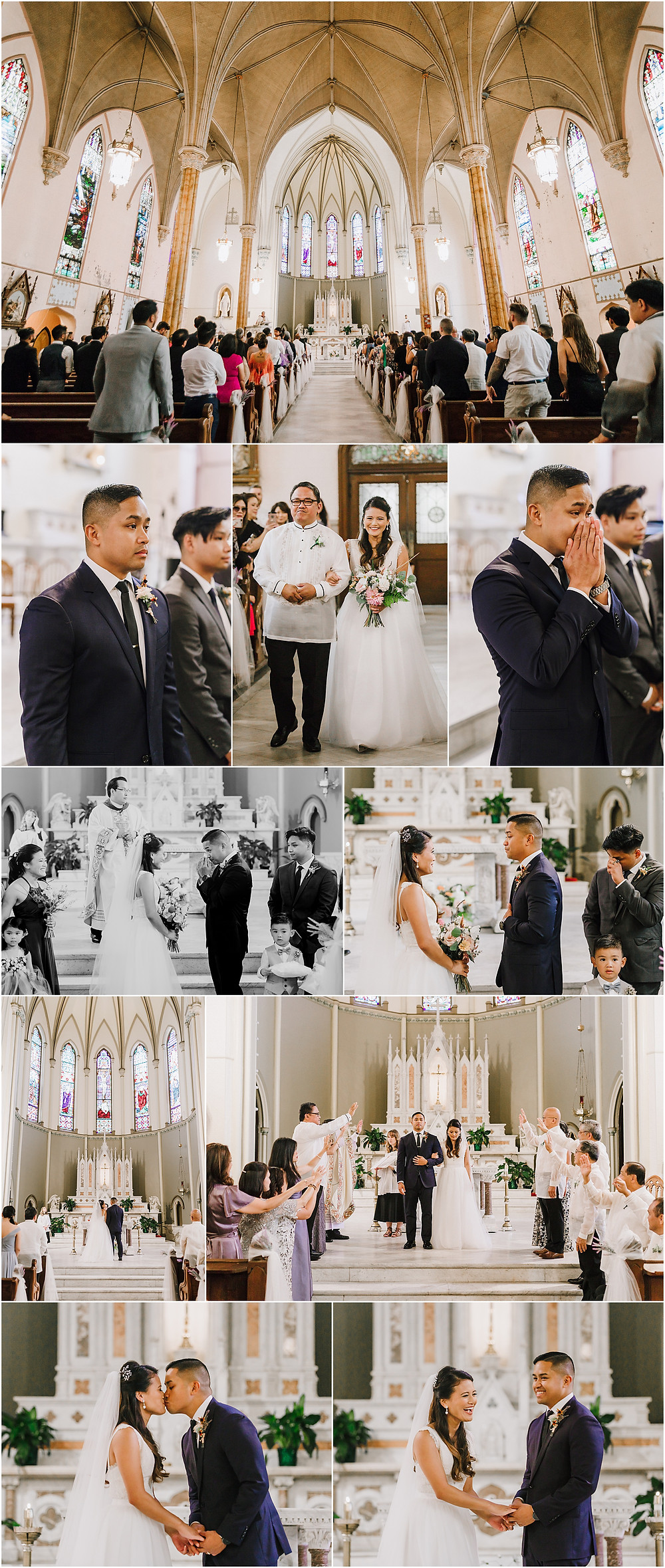 Holy Cross Church Wedding Ceremony - Baltimore, Maryland - Baltimore Wedding Photographer