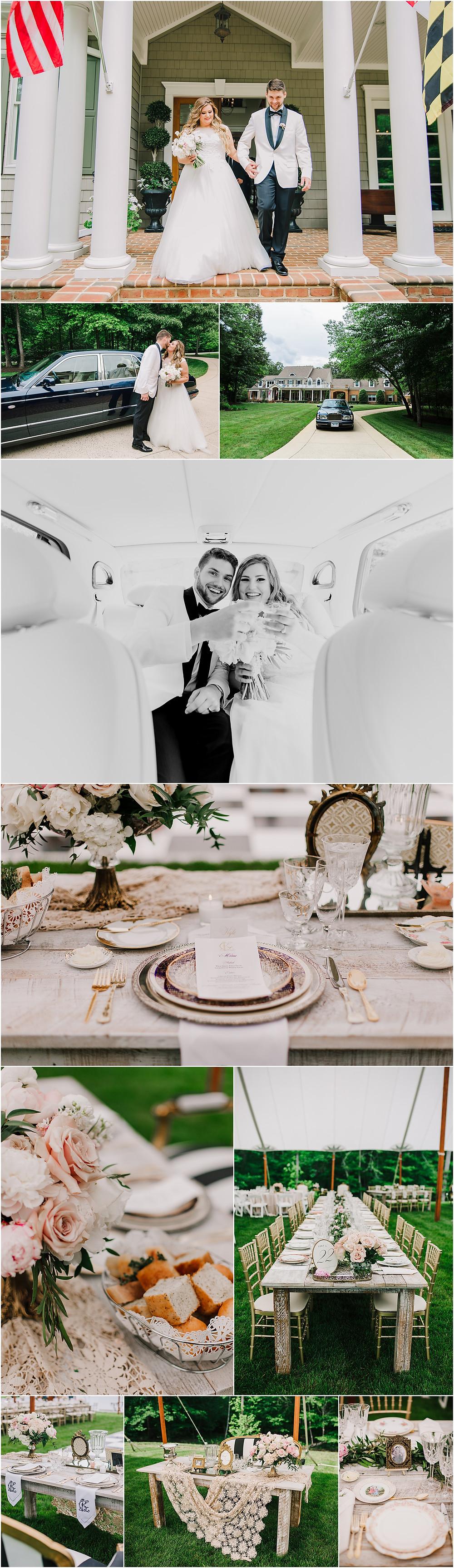 Vintage Luxury Reception Details Private Estate Wedding Annapolis Maryland Wedding Photography