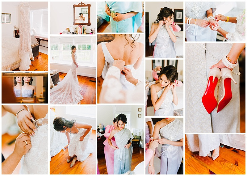 Thai Wedding preparation and wardrobe change. Maryland Wedding Photographer