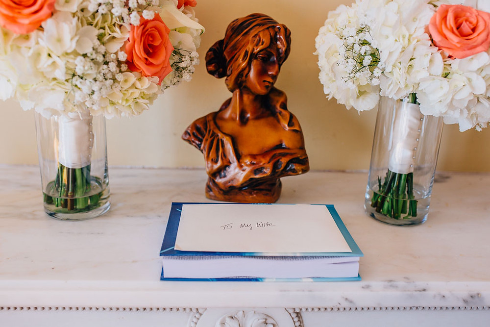 Bride Gift and flowers - Oxon Hill Manor Wedding