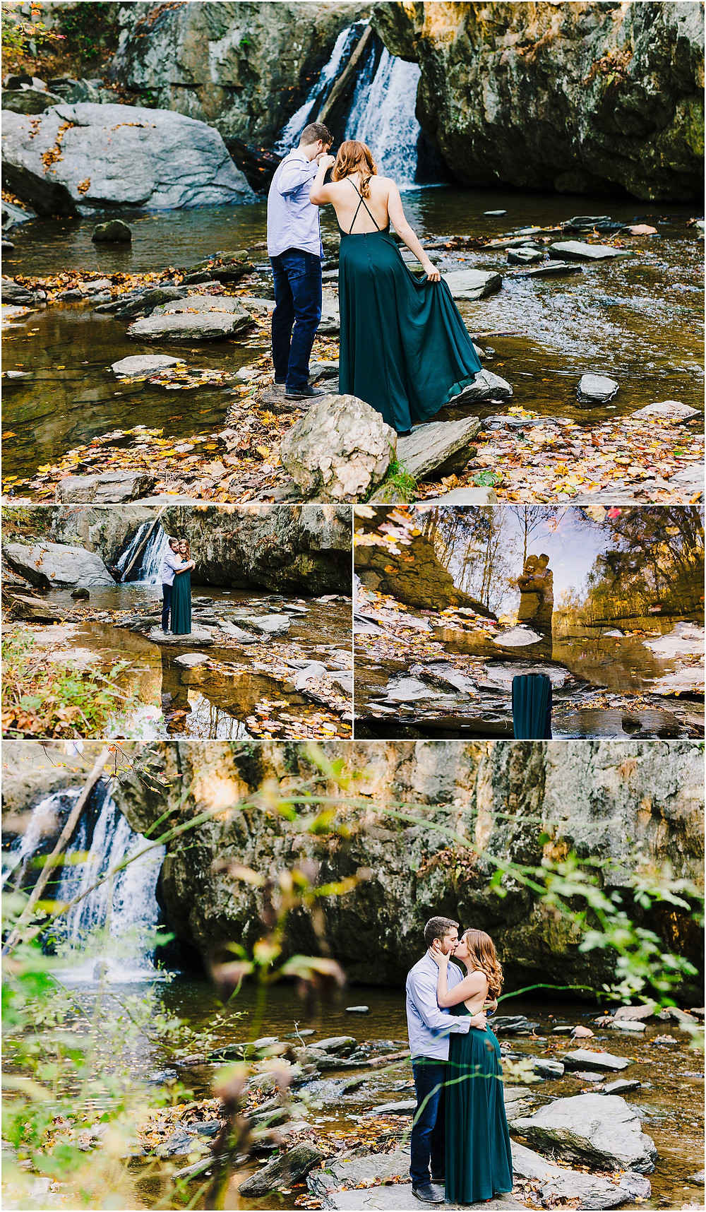 Fall Engagement Portraits at Kilgore Falls by Maryland Wedding Photographer Katherine Elizabeth Photography