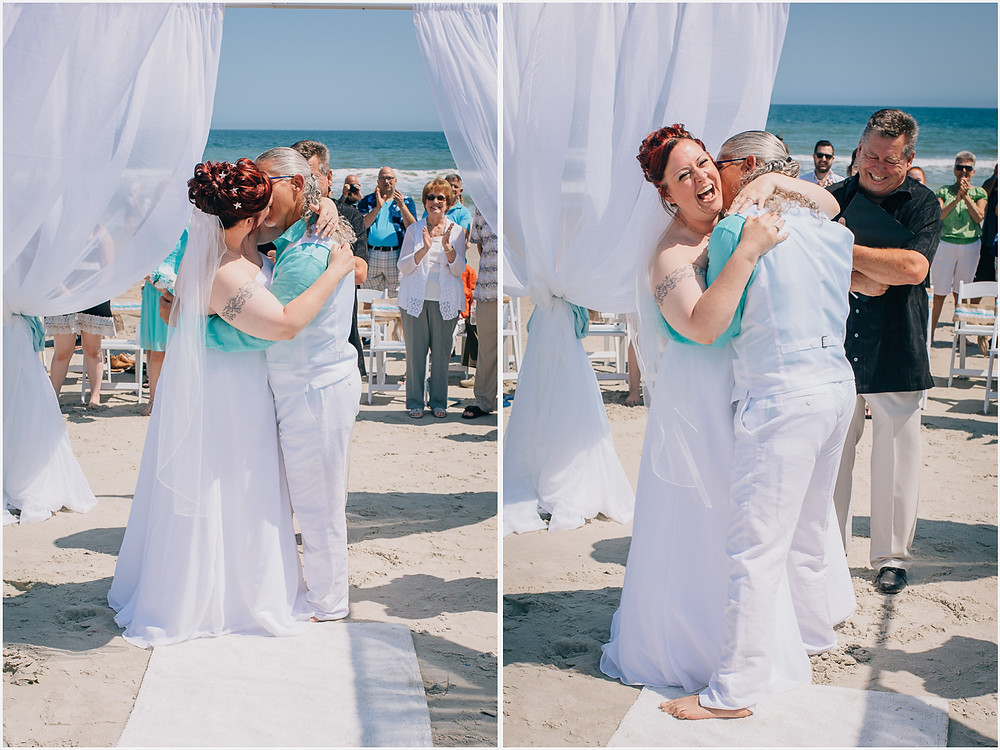 First Kiss - Maryland Wedding Photographer - Katherine Elizabeth Photography