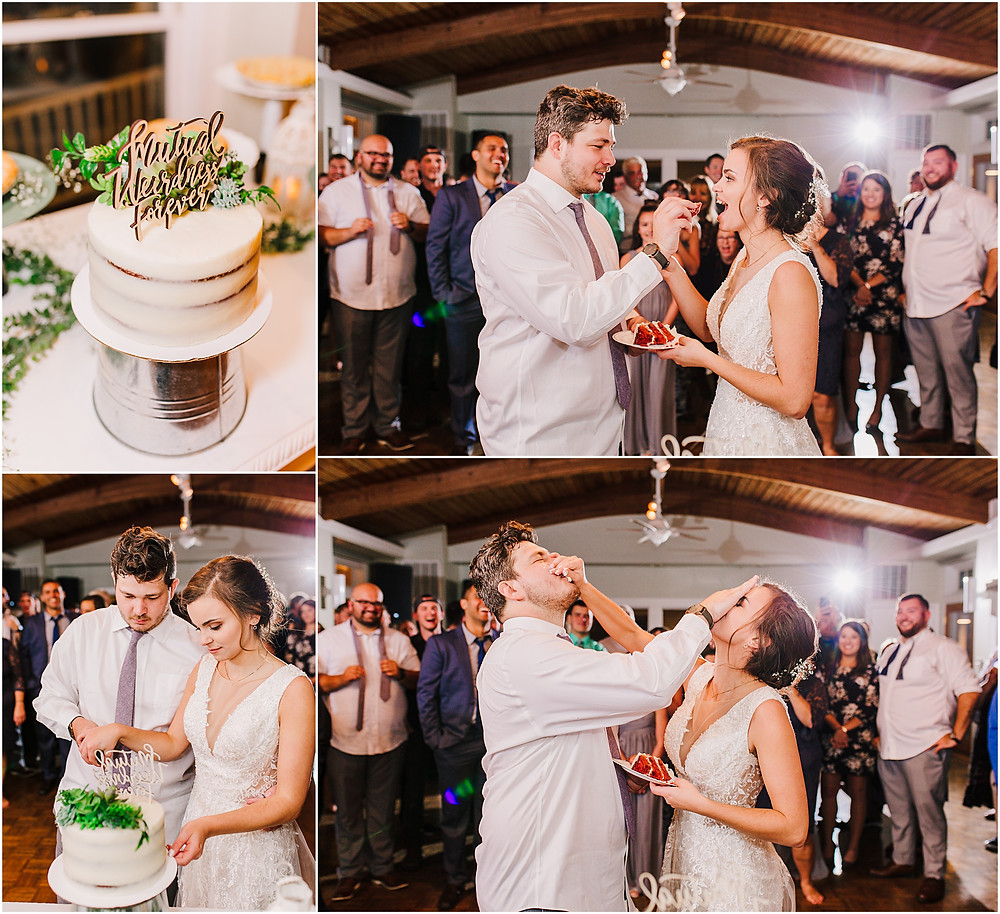 Cake Smash during reception at Historic London Town and Gardens - Annapolis Wedding Photography