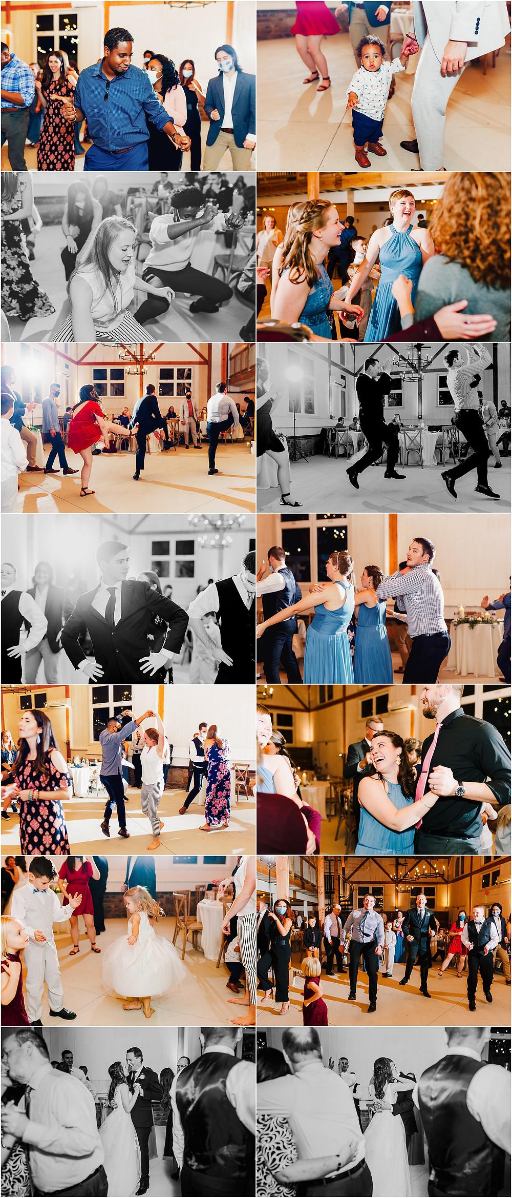 Tannery barn wedding reception dance photos maryland wedding photographer