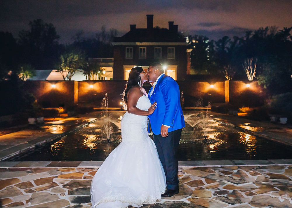 Oxon Hill Manor Night Portrait - Baltimore Wedding Photography