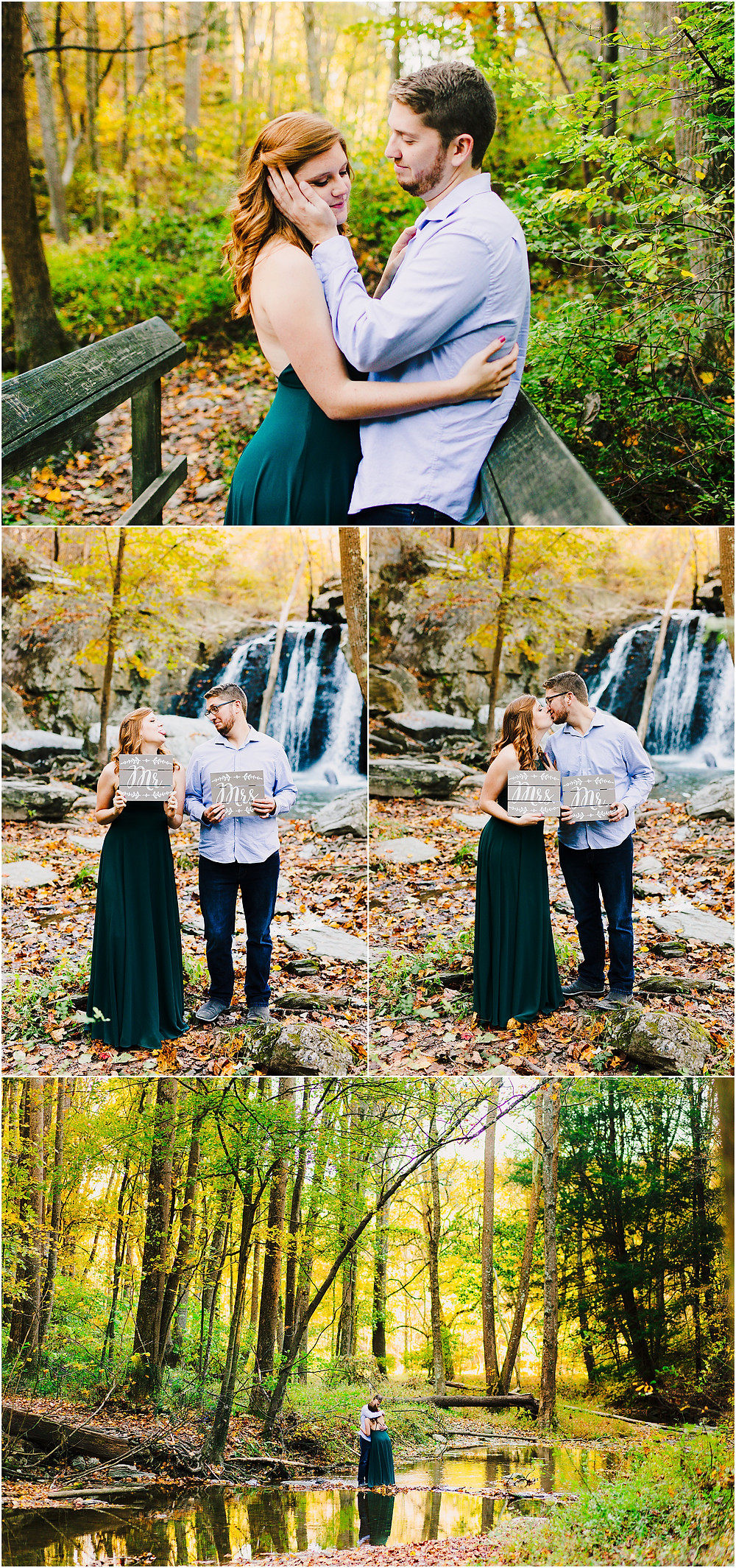 Kilgore Falls Engagement Portraits - Baltimore Wedding Photographer