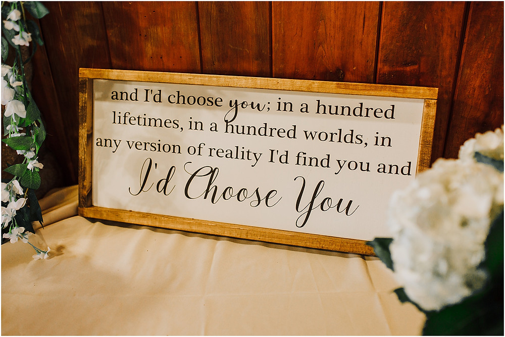 Special Wedding Sign - Rustic Maryland Wedding - Gambrill State Park - Frederick Wedding Photographer